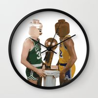 lakers Wall Clocks featuring lego magic by tbdaniel15