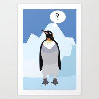 penguin Art Prints featuring Penguin by Nir P