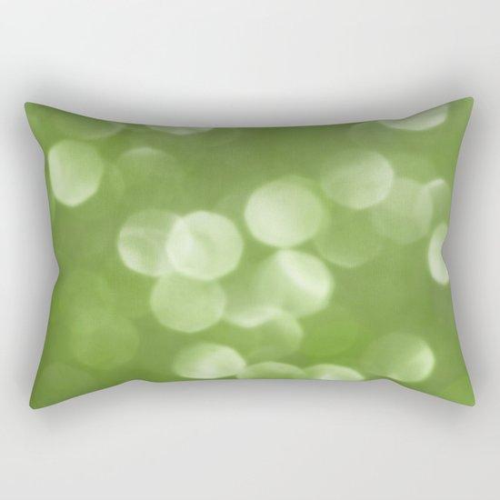 Sparkly Greenery Pantone bokeh Rectangular Pillow
