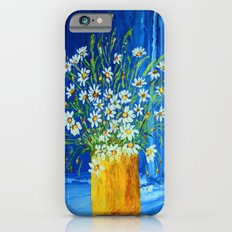 Daisies by the blue wall  iPhone 6s Slim Case