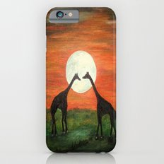 Full Moon Giraffe Love-Inspired by TaLins!!! iPhone 6s Slim Case