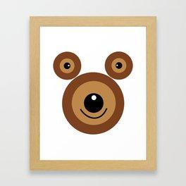 Funny bear face Framed Art Print
