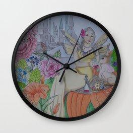 Fairy and Bunny Wall Clock