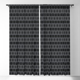 Black and White Geometric Aztec Tribal Pattern Blackout Curtain