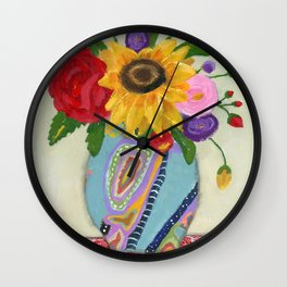"""""""Flowers for Frida 2"""" Wall Clock"""