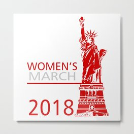 Womens March Liberty Metal Print