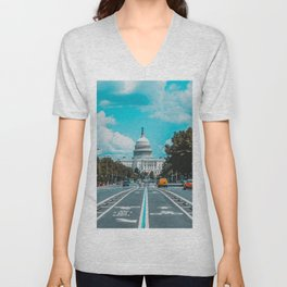 Washington D.C. Unisex V-Neck