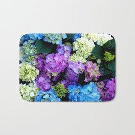Colorful Flowering Bush Bath Mat