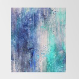 Winter Abstract Acrylic Textured Painting Throw Blanket