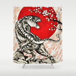 Japan Tiger Shower Curtain