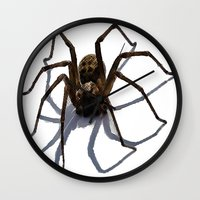 spider Wall Clocks featuring SPIDER by aztosaha
