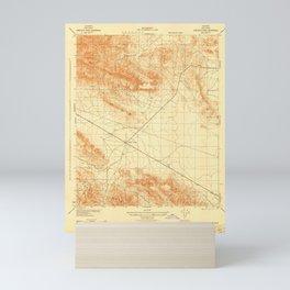 Sawtooth Ridge, CA from 1943 Vintage Map - High Quality Mini Art Print