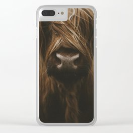 Scottish Highland Cattle Clear iPhone Case
