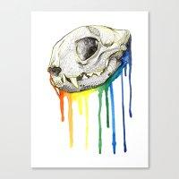 Skull Candy Kitty Canvas Print