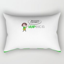 1upHCG T-Shirt Print Rectangular Pillow
