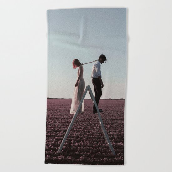 Draining love Beach Towel