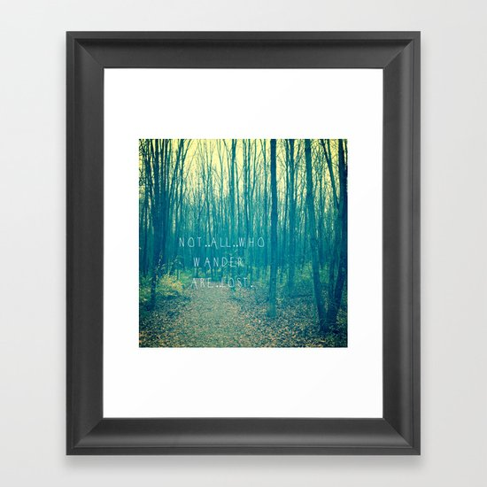 Wander in the Woods Framed Art Print