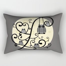 Owls in the Moonlight Rectangular Pillow