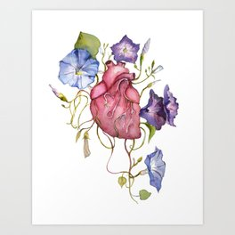 You are growing on me Ipomoea / blooming heart Art Print