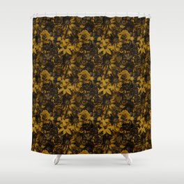 Classic Elegance Golden Flower - Enchanted Flowers Shower Curtain