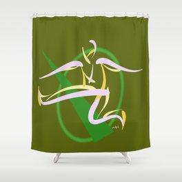 Jumpin', Pt. 2 (Green) Shower Curtain