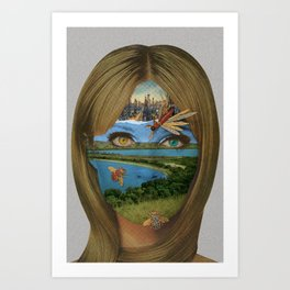 Dualism of Industrial Riches Art Print