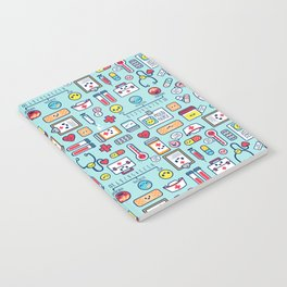 Proud To Be a Nurse Pattern / Blue Notebook