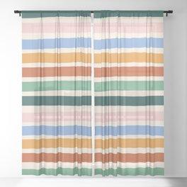 Terrace Stripe Sheer Curtain
