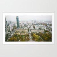 poland Art Prints featuring Warsaw, Poland by Tomek Baginski