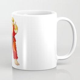 Ken Masters Thumb Up Pixel Art Coffee Mug