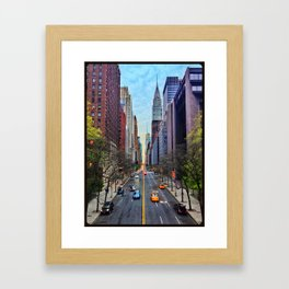 NYC in TechniColor Framed Art Print