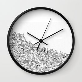 Houses in motion Wall Clock