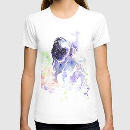 Purple Pug Puppy T-shirt