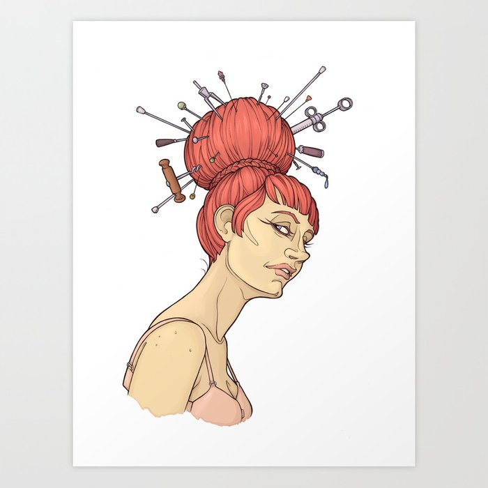 get out of your hair Art Print