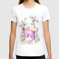 literary T-shirts featuring Literary Fort by Genevieve Santos
