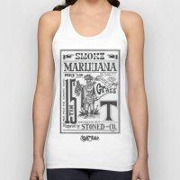 marijuana Tank Tops featuring SMOKE MARIJUANA by NIGHTJUNKIE