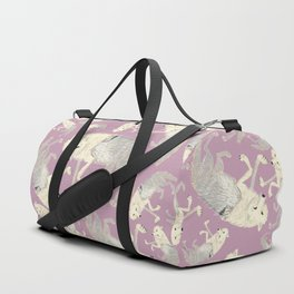 Totem Artic Wolf lilac Duffle Bag