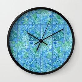 Morocco tiles Wall Clock