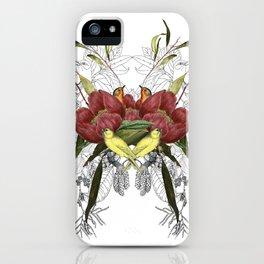 Birds in flowers iPhone Case