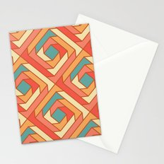 Square Flowers Stationery Cards