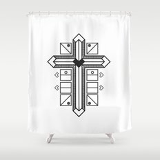 Mighty cross Shower Curtain