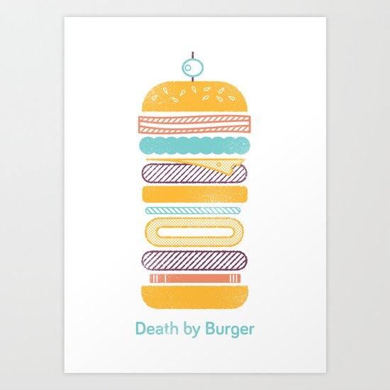Death by Burger Art Print