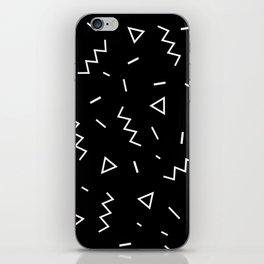 Inverted Black and White Zig Zag Print iPhone Skin