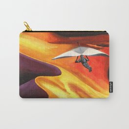 Hang-Glider Oil Painting Carry-All Pouch
