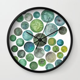 For the Love of Green Wall Clock