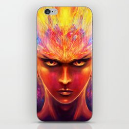Unfiltered anger iPhone Skin