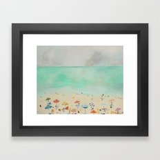 Butter and Tablecloth Framed Art Print