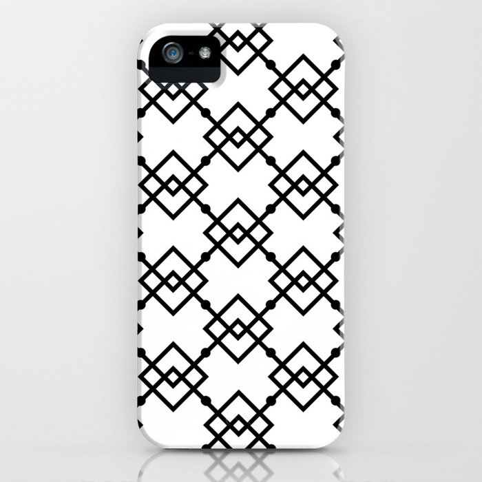 Black And White 1 Iphone Case By Fsbennett