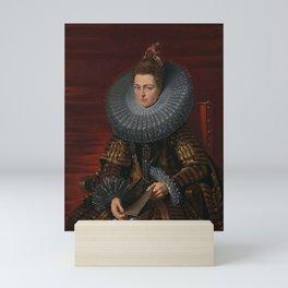 Tudor Lady in large Ruff collar Mini Art Print