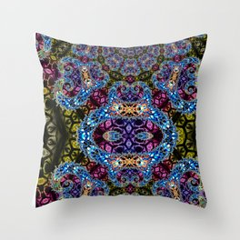BBQSHOES: Fractal Design 1020C Digital Psychedelic Art Throw Pillow